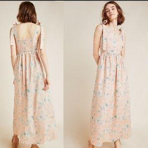 New Anthropologie Makenna Floral Maxi Dress NWT